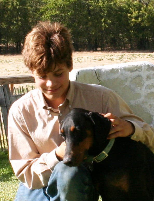 dobe puppy owner